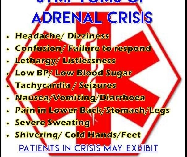 Top 5 Tips To Avoid An Adrenal Crisis…And What To Do If You Are InOne